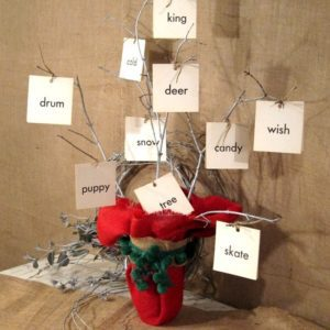Christmas card tree inspired by Martha Stewart project