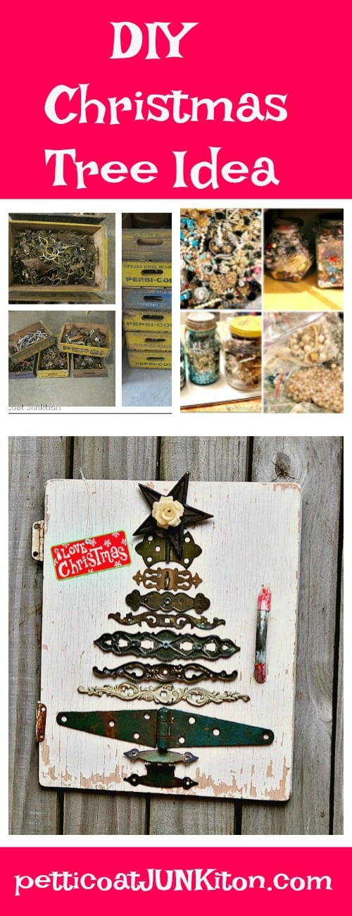 DIY Christmas tree idea from Petticoat JUNKtion