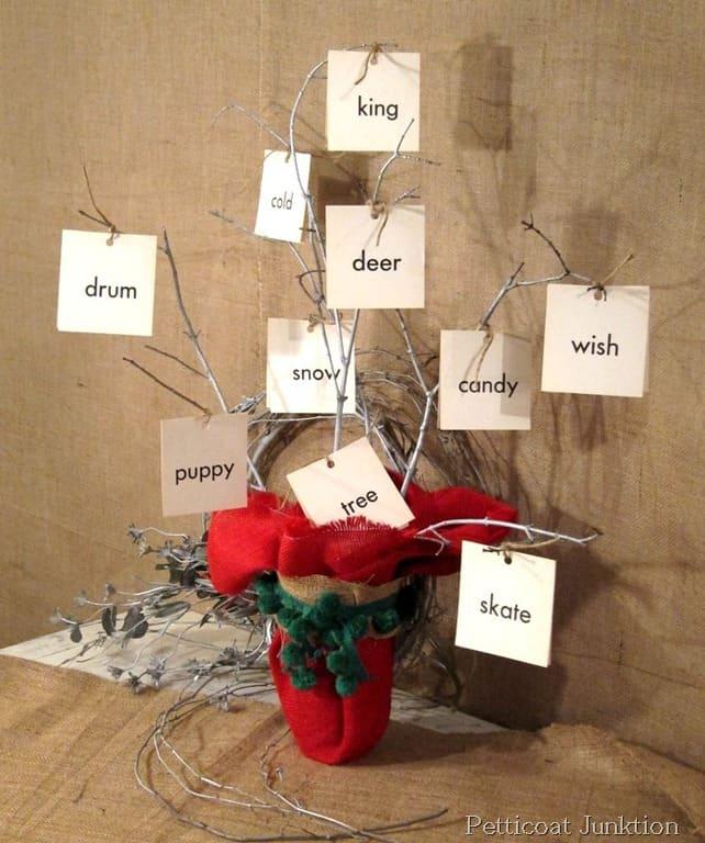 DIY Branch Christmas Tree, Martha Stewart Knock-Off Decor