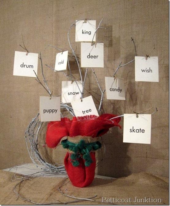 Branch Christmas Tree DIY, Petticoat Junktion