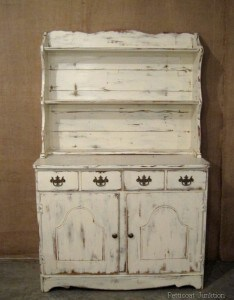 Painted Furniture, White Hutch, Petticoat Junktion