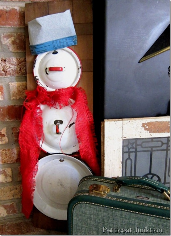 Snowman, Up-cycled Creation, Petticoat Junktion
