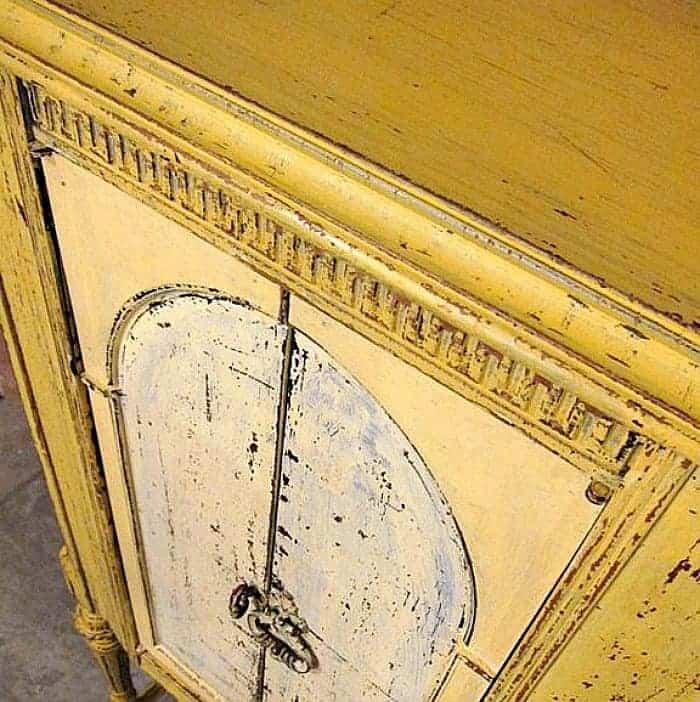 Mustard Seed Milk Paint Color on Furniture