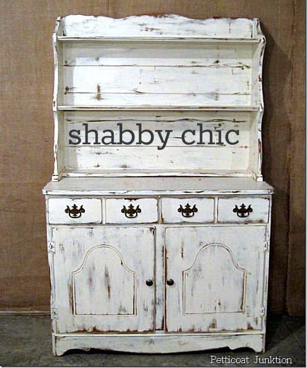 Shabby chic white hutch Petticoat Junktion