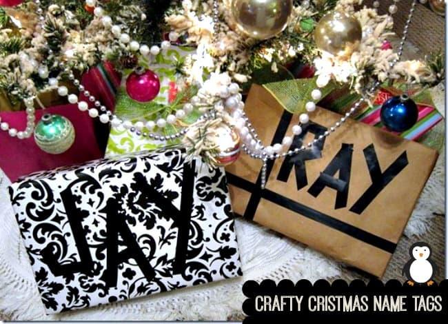 crafty christmas name tags