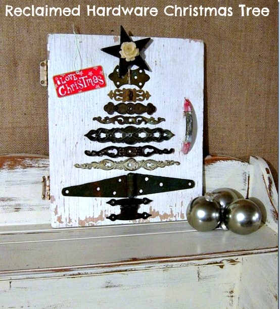 diy christmas tree from reclaimed hardware