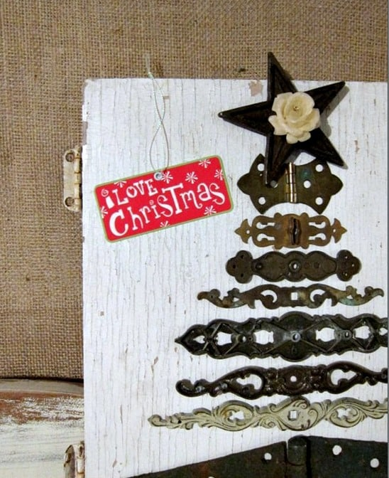 Diy Christmas Tree Idea Using Reclaimed Hardware