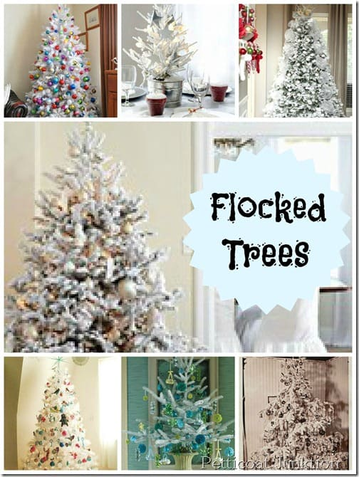 Flocked Tree Collage, Petticoat Junktion