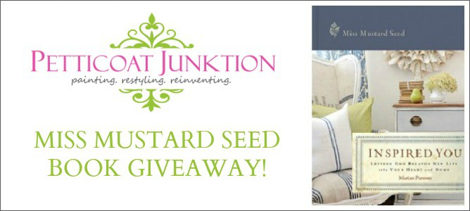 Miss Mustard Seed Inspired You Giveaway