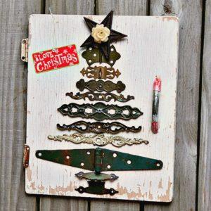DIY Christmas Tree from Vintage Hardware