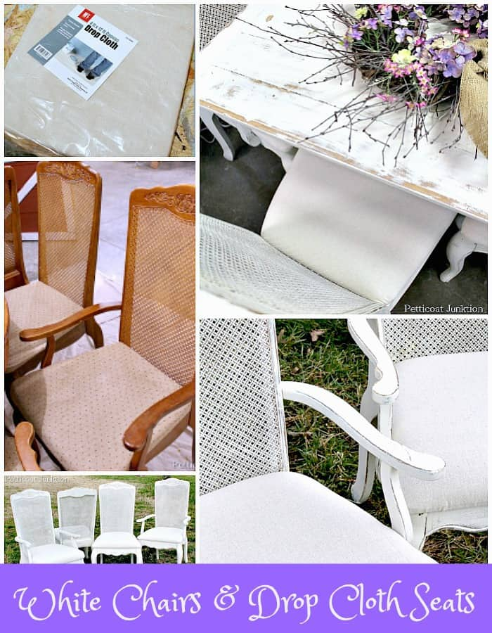 Easy Drop Cloth Idea For Covering Fabric Chair Seats