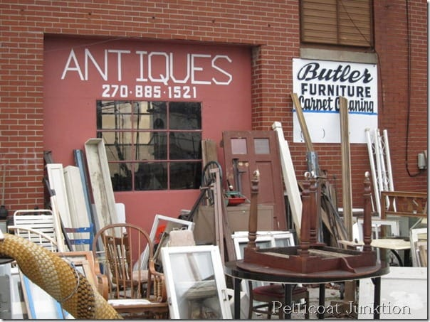Where you can find my favorite shop…..Butler's Antiques, 17th and Walnut Street, Hopkinsville KY 42240, phone no. (270)885-1521 Butlers is about 40 minutes from my home in the Clarksville area. From downtown Nashville the drive is about 1½ hours Store hours are Monday- Saturday, 9-5 or 6 depending on daylight hours and how busy the shop is. The shop is closed every 4th weekend from Thursday-Sunday. Butler's Antiques sets up at the Nashville Flea Market on these weekends and no one is at the shop. At the flea market they are located outside in the walkway in front of the milk barn and down from the café. Just ask any vendor and they can probably tell you how to find them. Hope this info helps. Don't buy all the good stuff!