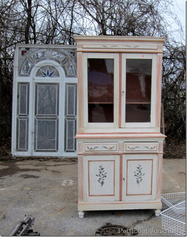 decorative-painted-hutch-cabinet