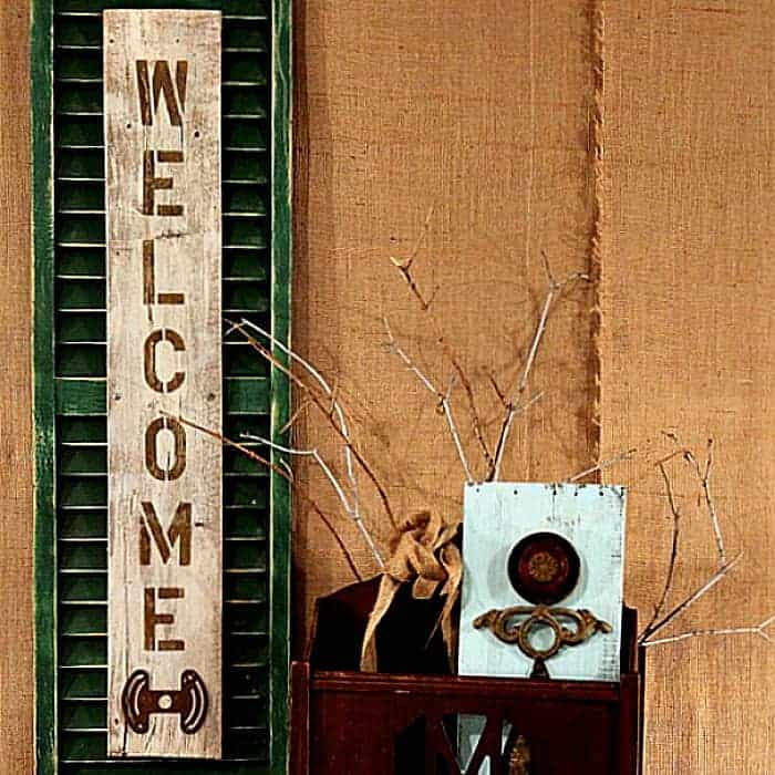 How To Make A Recycled Shutter Welcome Sign