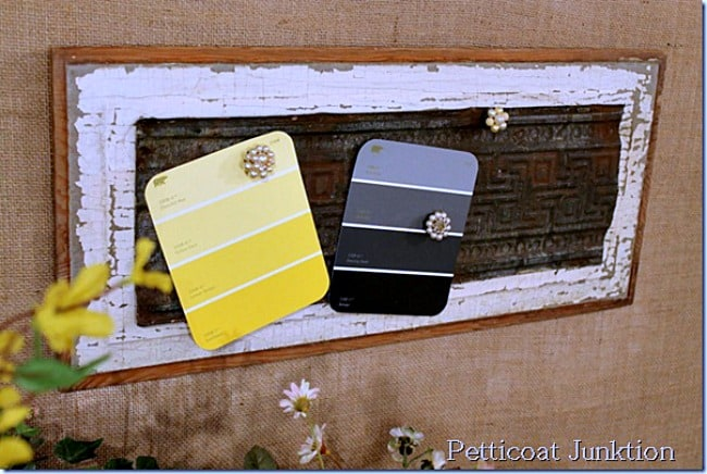magnet wall decor from reclaimed items petticoat junktion