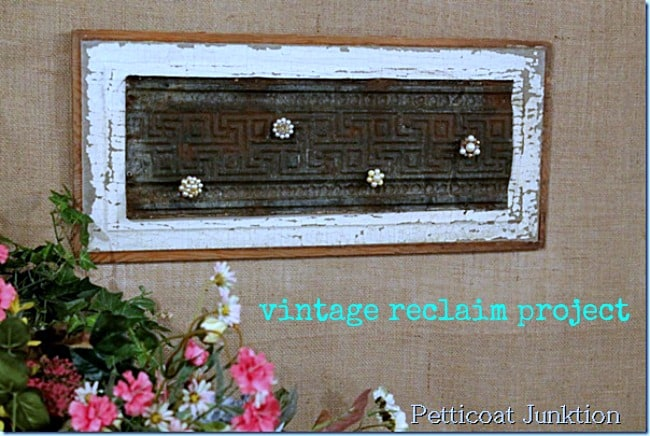 vintage rusty tin magnet board petticoat junktion