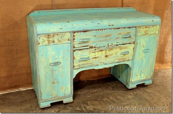 distressed-two-tone-painted-buffet-project