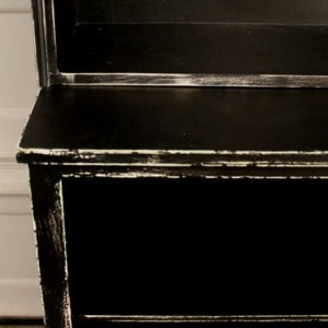 Painting and Distressing Rough Beat-up Furniture