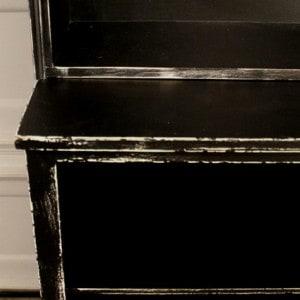 painted-distressed-black-furniture-idea