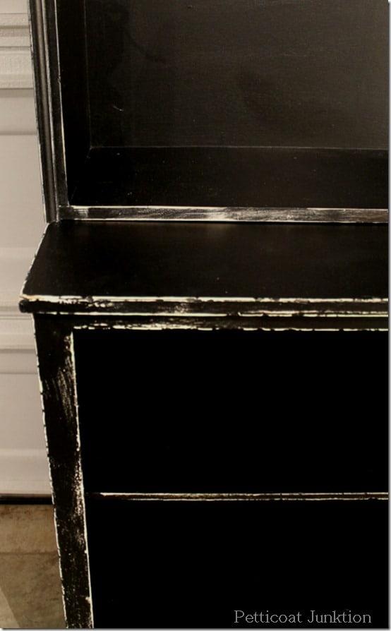 black furniture distressed heavily