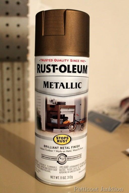 clock pendulum with rust oleum metallic spray paint in antique brass. Black Bedroom Furniture Sets. Home Design Ideas
