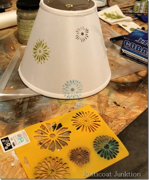 stenciling-lamp shade-tutorial
