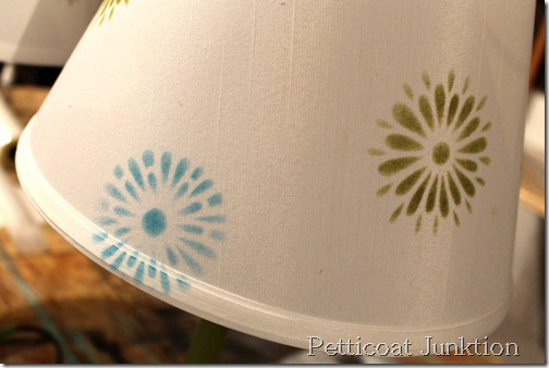 stenciling-lamp shades-tutorial