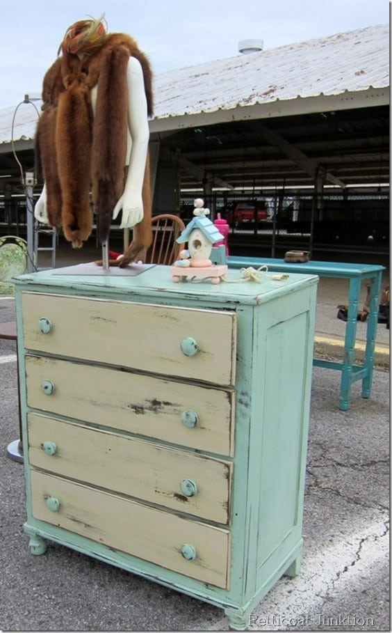 two tone furniture from the Nashville Flea Market