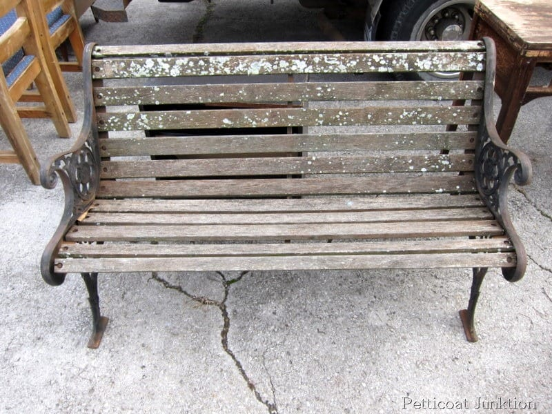 junk-shopping-vintage-bench-flea
