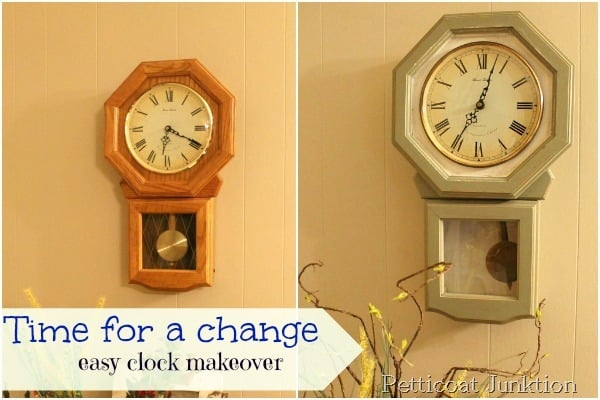 Wall Clock Makeover Project Just In Time