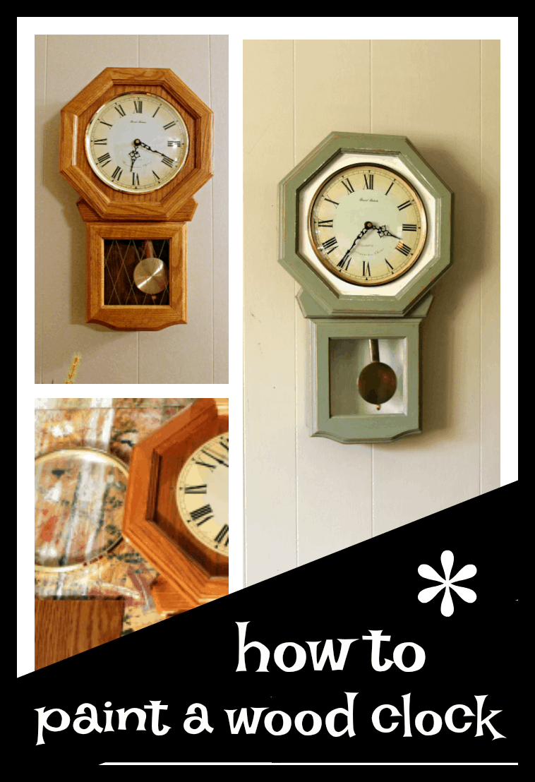 how to paint a wood clock for an updated look