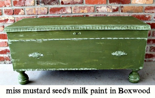 miss mustard seed's milk paint makeover in boxwood petticoat junktion