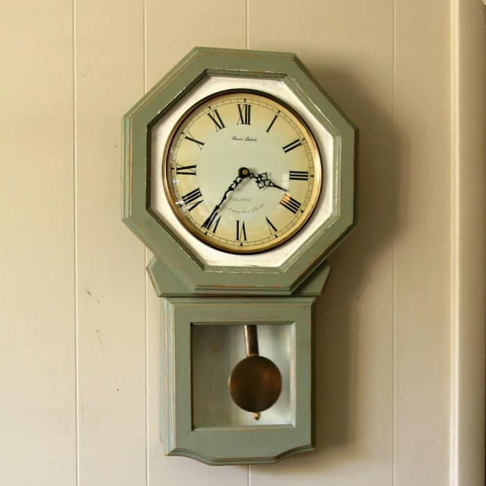update a wood wall clock with paint