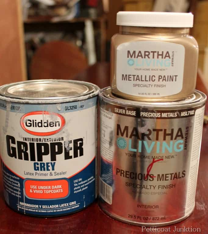 Martha Stewart Metallic Paint Tutorial Diy