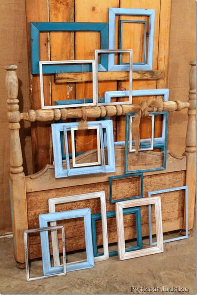 spray painted frames diy project