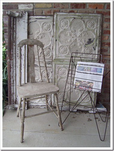 junk-finds-ceiling tin-chippy-chair