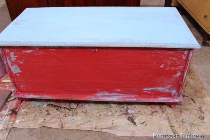 how to layer paint and distress paint using vaseline