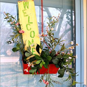 how to make a front door wreath from flea market finds