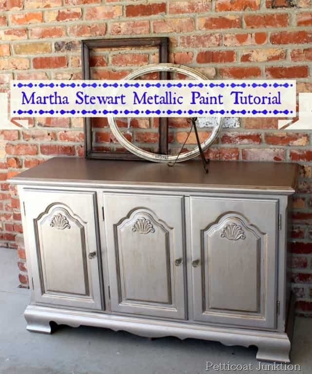 Tutorial On Martha Stewart Metallic Paint For Furniture ...