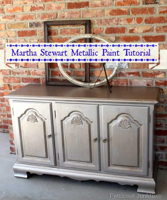 Martha Stewart Metallic Paint Tutorial Diy