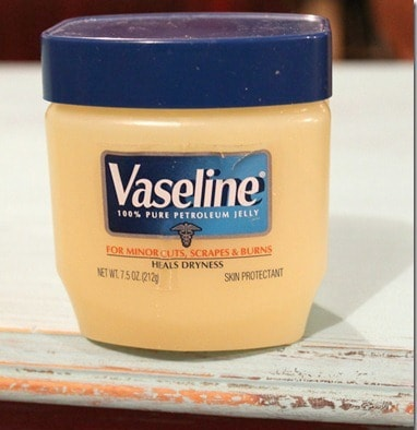 using Vaseline to distress paint and furniture