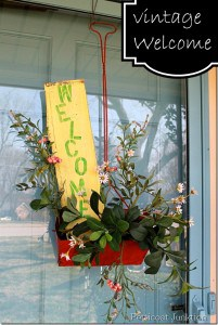 vintage welcome sign for Spring