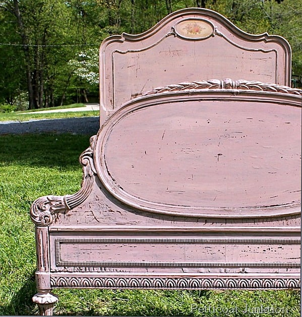 Vintage Bed Painted with Milk Paint
