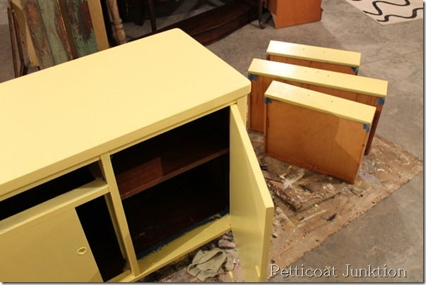yellow-painted-furniture-project