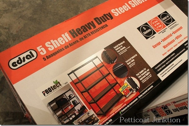 new heavy duty workshop shelves