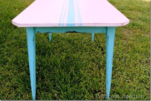 Painting Grain Sack Stripes On Furniture