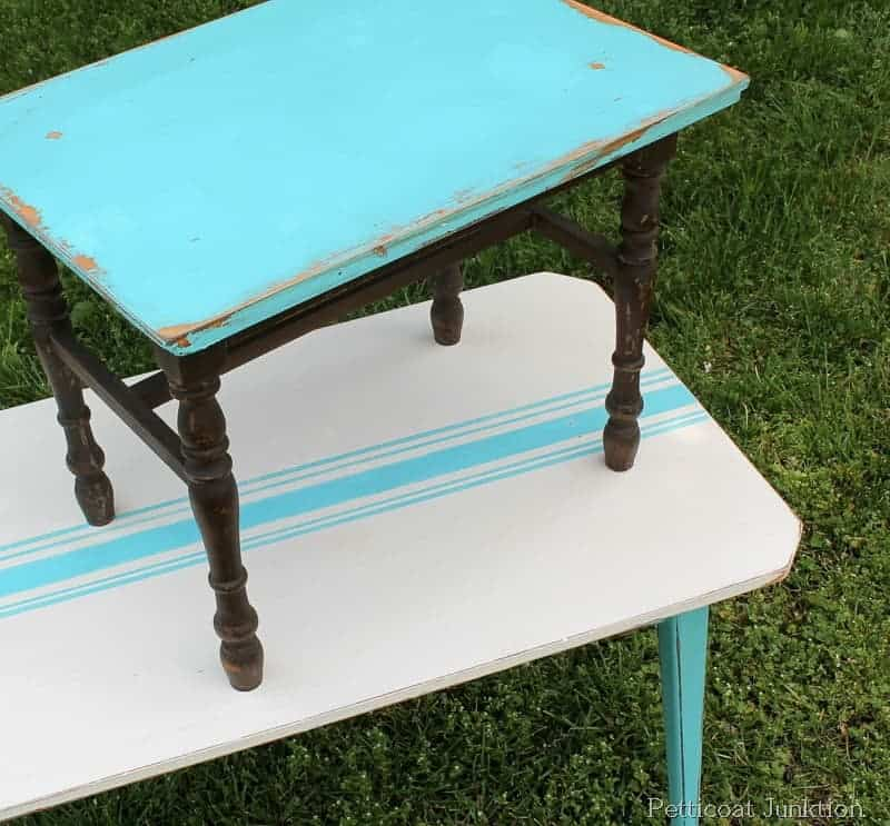 turquoise-painted-table-grain-sack-project