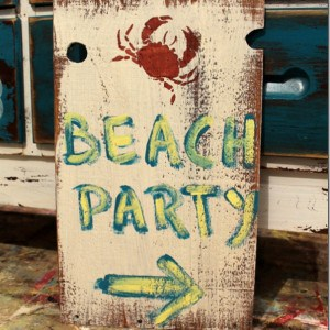 The Signs Are Right For A Beach Party