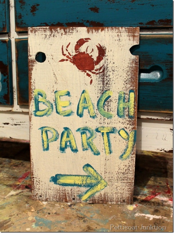diy-beach-party-sign-project
