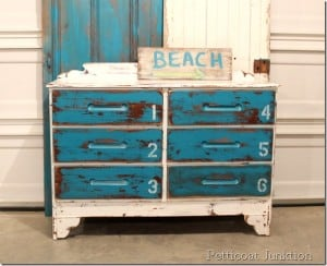 beach-inspired-blue-white-dresser-before-after-stenciled